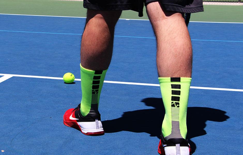 Yellow Vitalsox Tennis No Show Socks Large